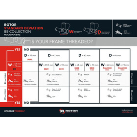 Rotor BB30/24 Innenlager MTB 68/73mm Stahl